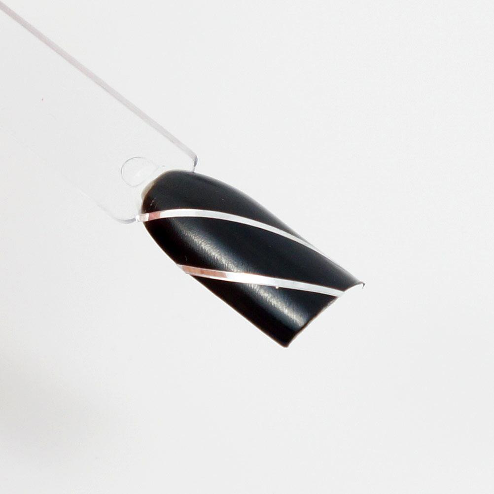 striping tape argent sur base noir